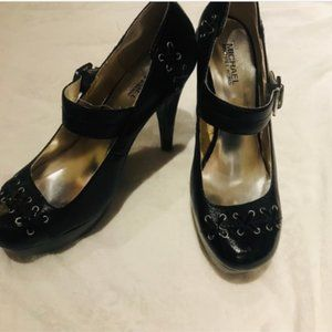 Micheal Kors Black Leather Mary Janes